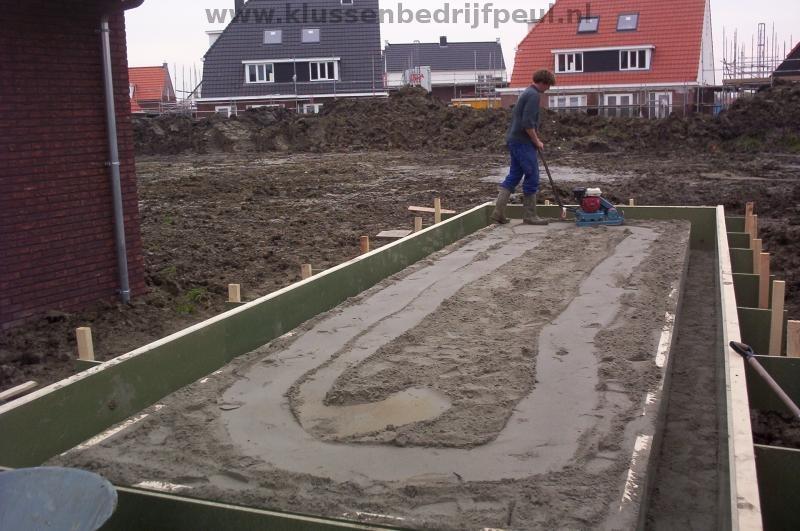 Vloer op zand wapening betonnen vloer voor tuinhuis garage